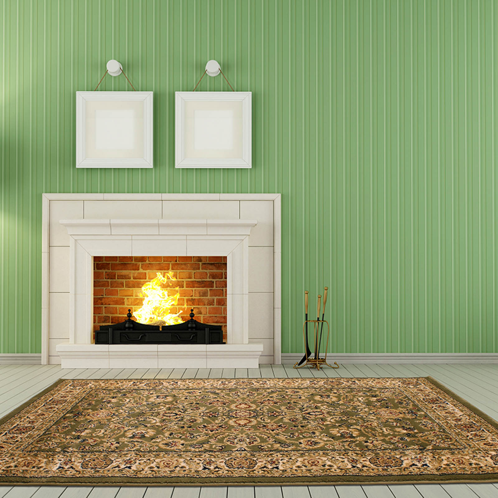 Tabriz Traditional Rugs 001 in Green