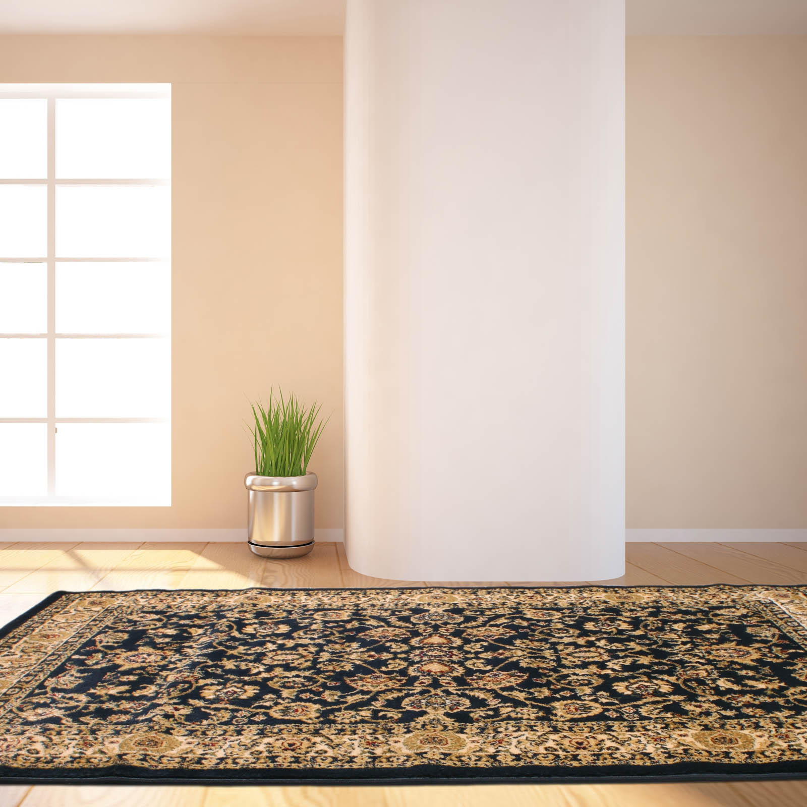 Tabriz Traditional Rugs 001 in Navy