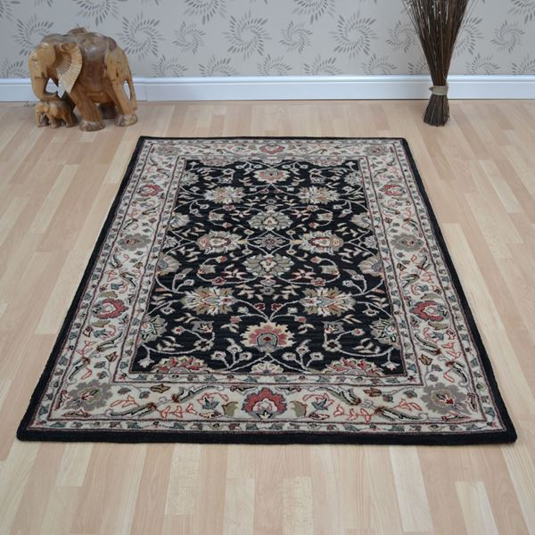 Tabriz Wool - Black Beige