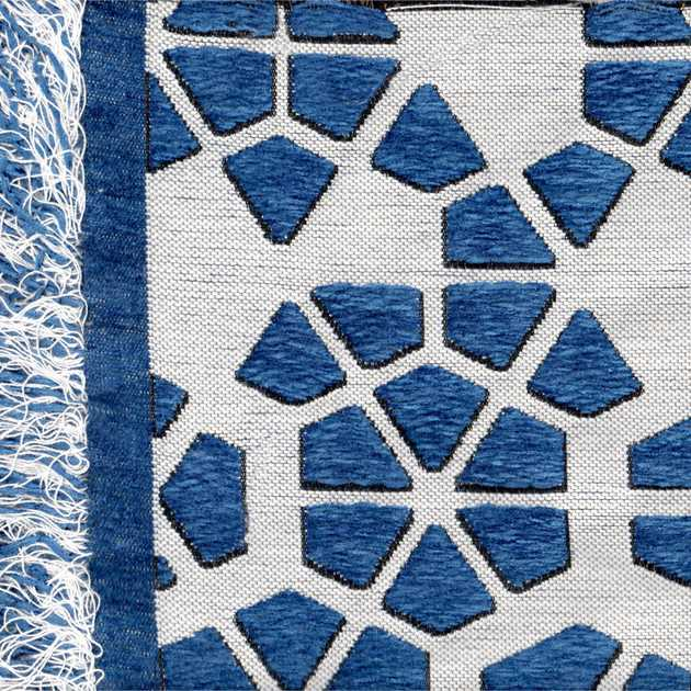 Milek Tattoo Rug DBB8 6001 in Blue and White