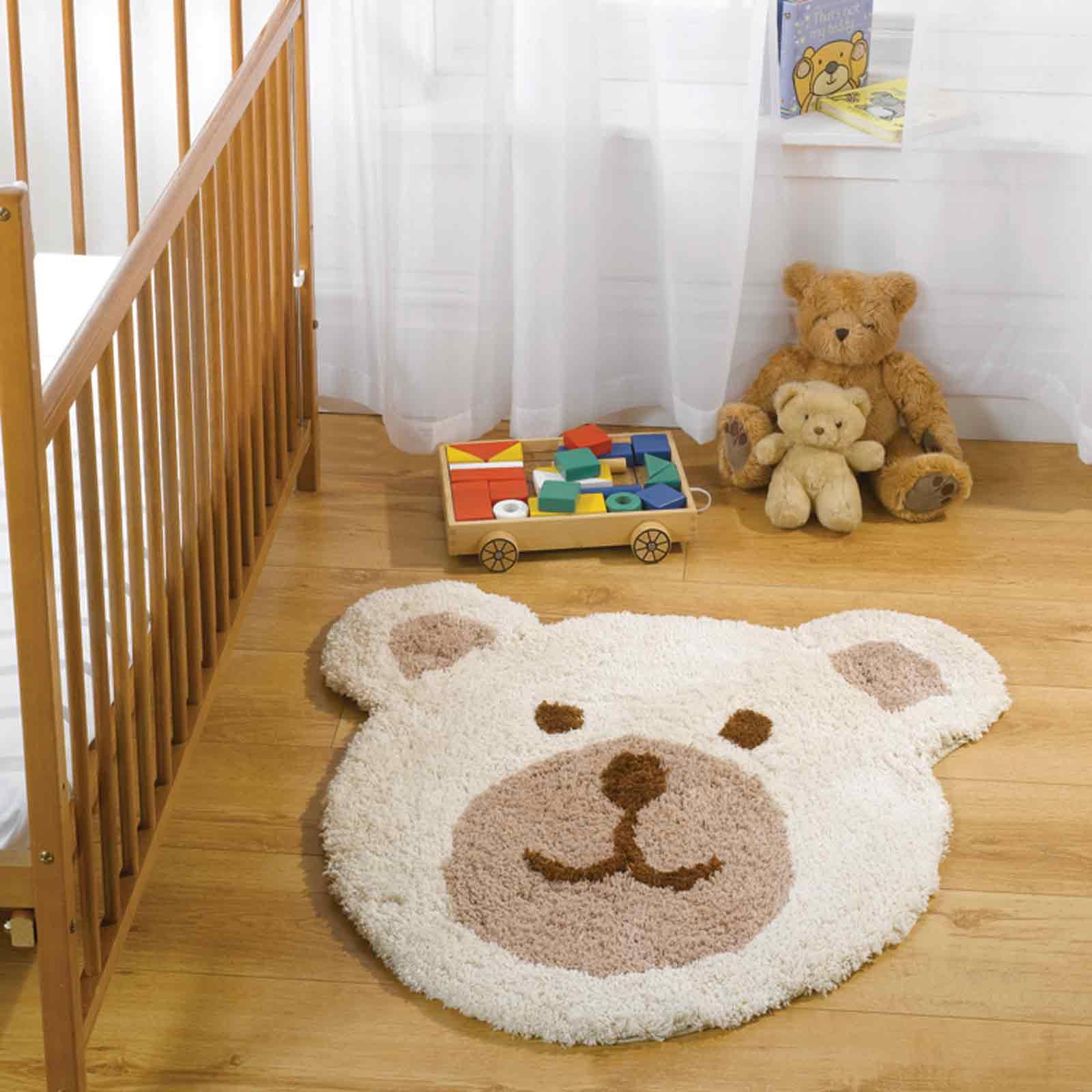Nursery Teddy Bear Rugs In Natural