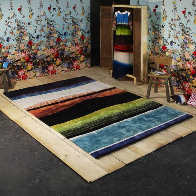 Tempera Multicolore Garance Rugs by Christian Lacroix