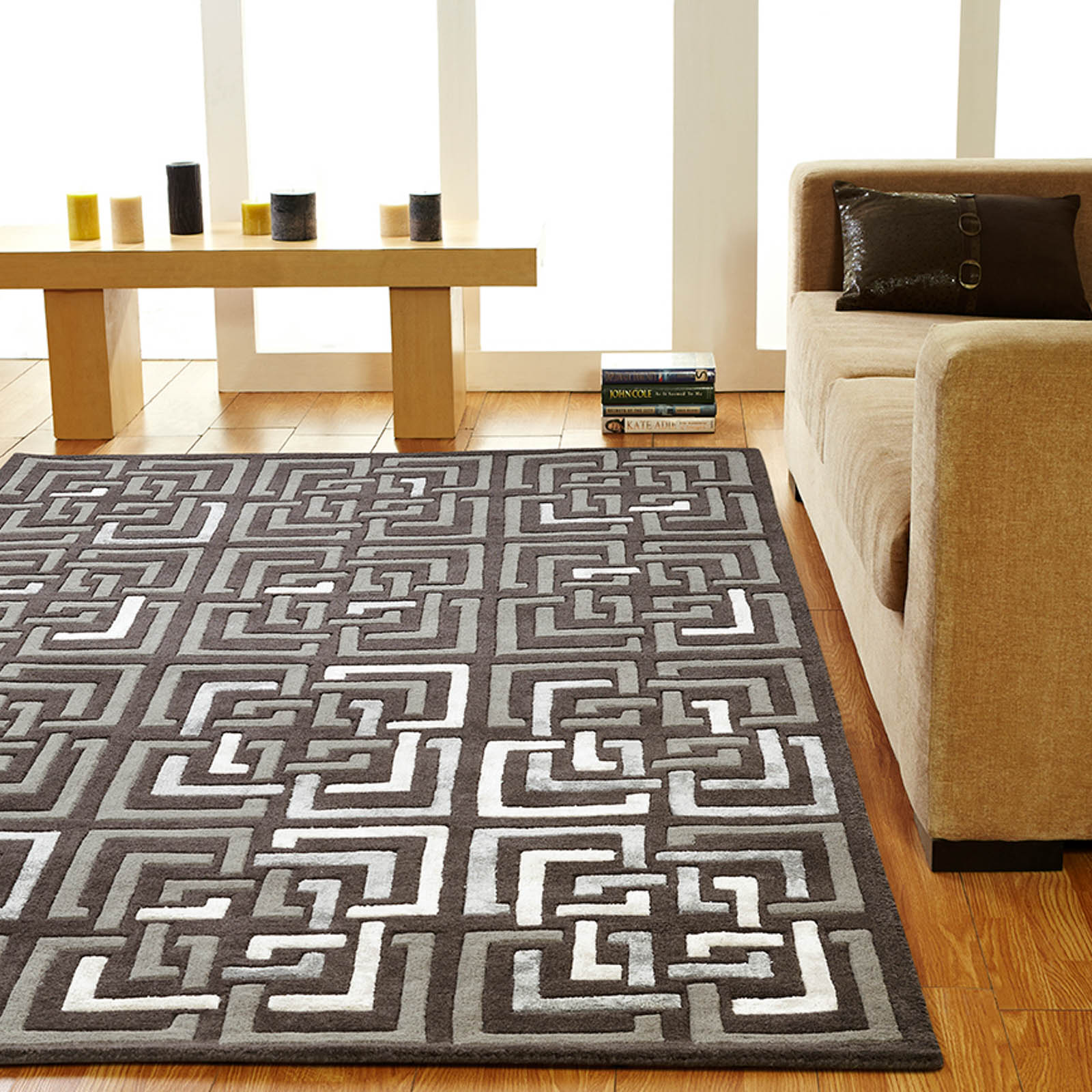 Unique Temple rugs in Charcoal