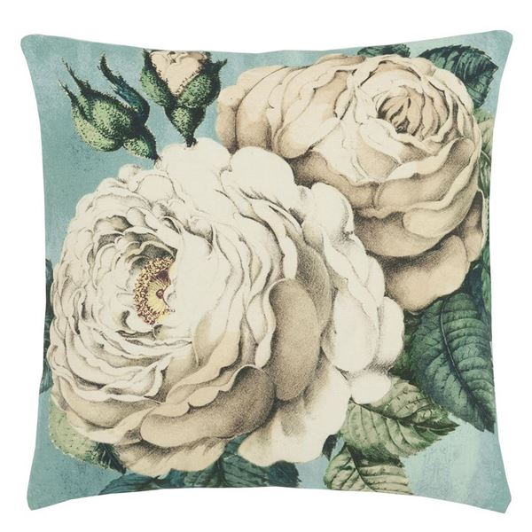 The Rose Cushion - Swedish Blue