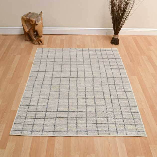 Tibet Grid Rugs in Beige