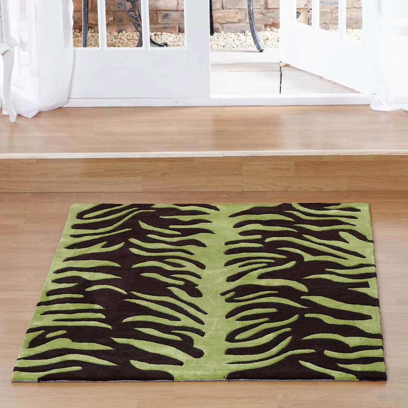 Aspire Tigre Rugs in Chocolate Green
