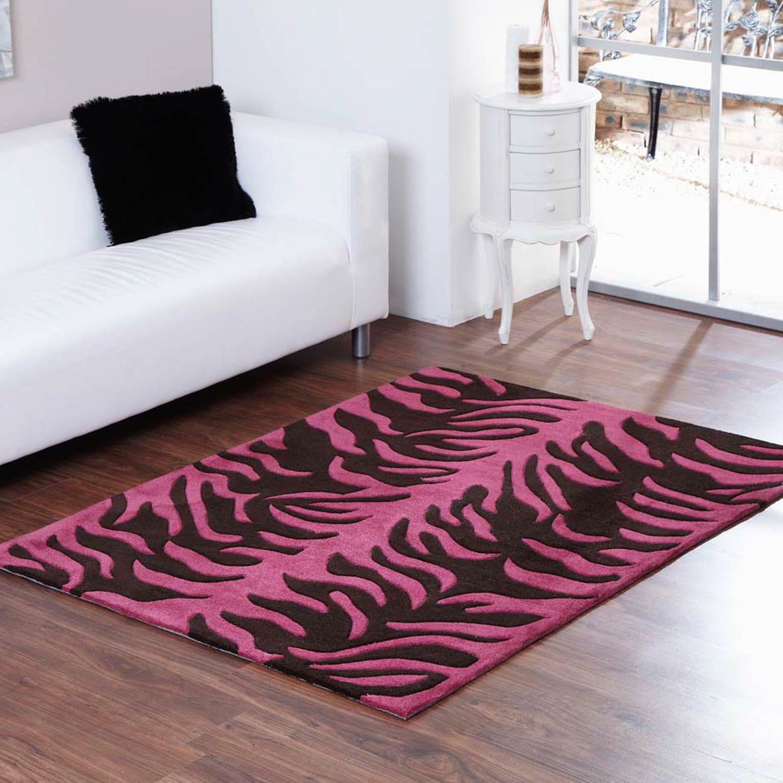 Aspire tigre rugs in chocolate plum free uk delivery for Plum and cream rug