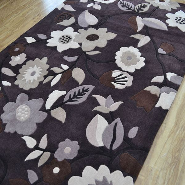 Topaz Flower - Brown Beige