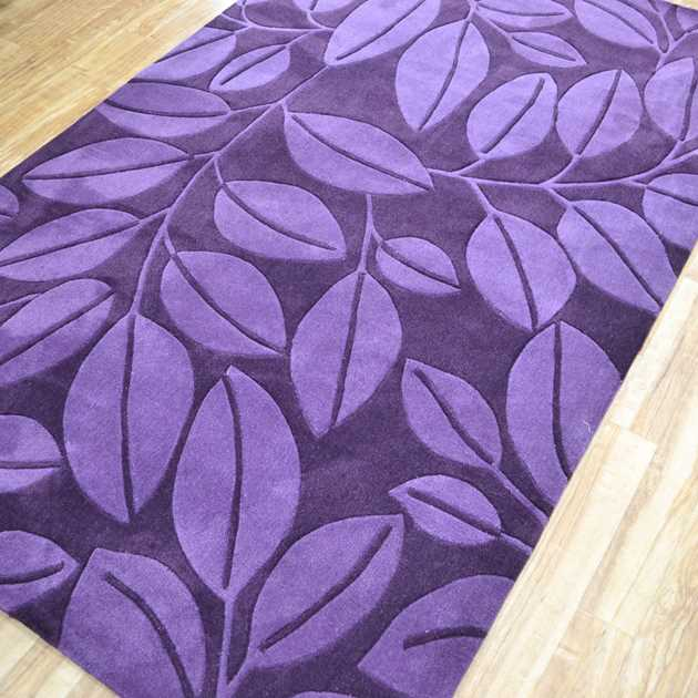 Topaz Leaf Rugs in Purple