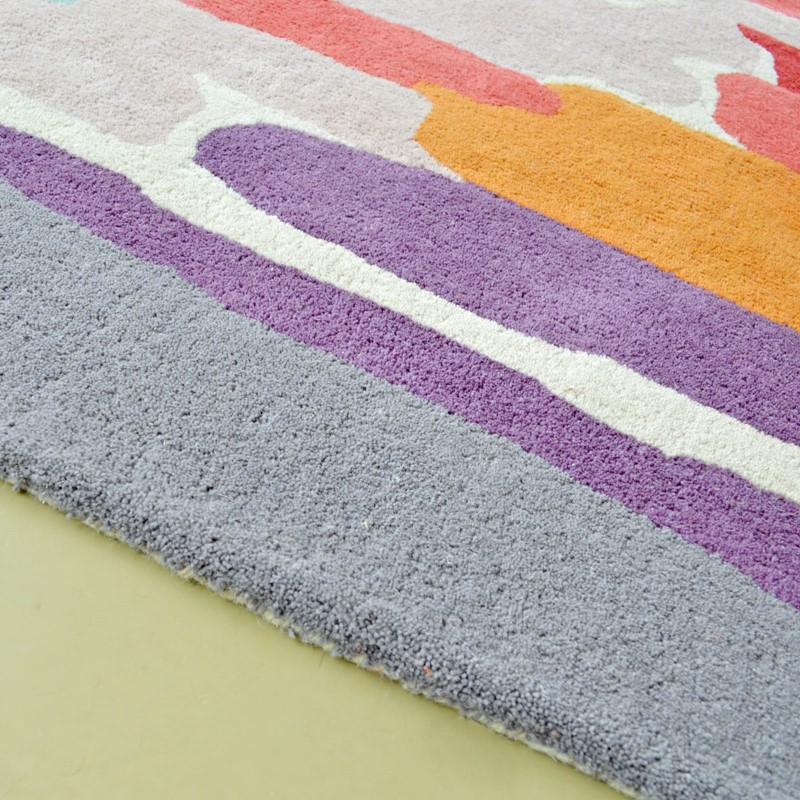 Trattino Rugs 44805 In Berry By Harlequin Buy Online From