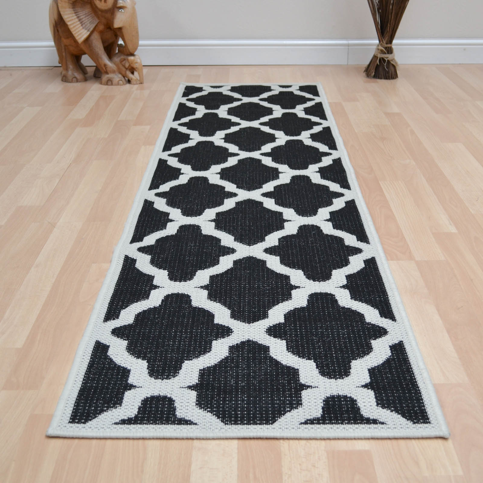 trellis runners in black free uk delivery the rug seller