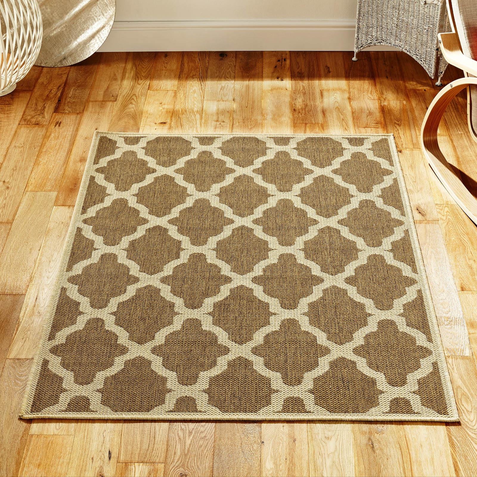Trellis Rug in Natural 60x110cm