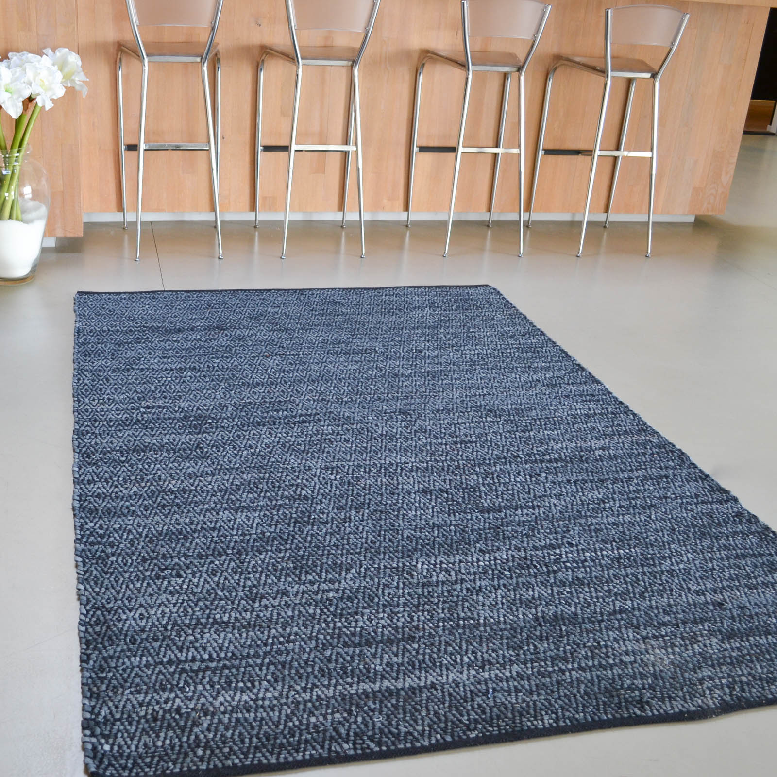 Tribe Leather Flatweave Rugs 79905 by Brink and Campman