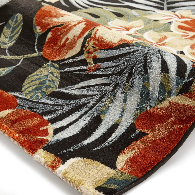 a8307f56e04 Tropics Rugs 6096 in Black and Multi-colours buy online from the rug ...