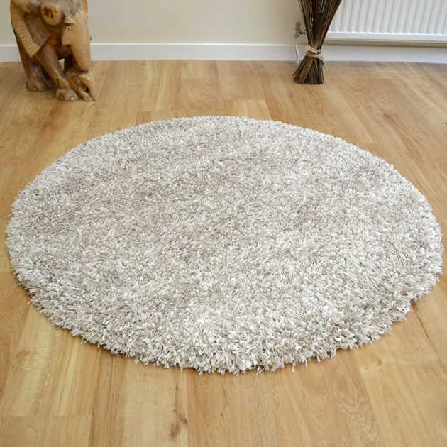 Twilight Circular Rugs 39001 2211 in Linen and White