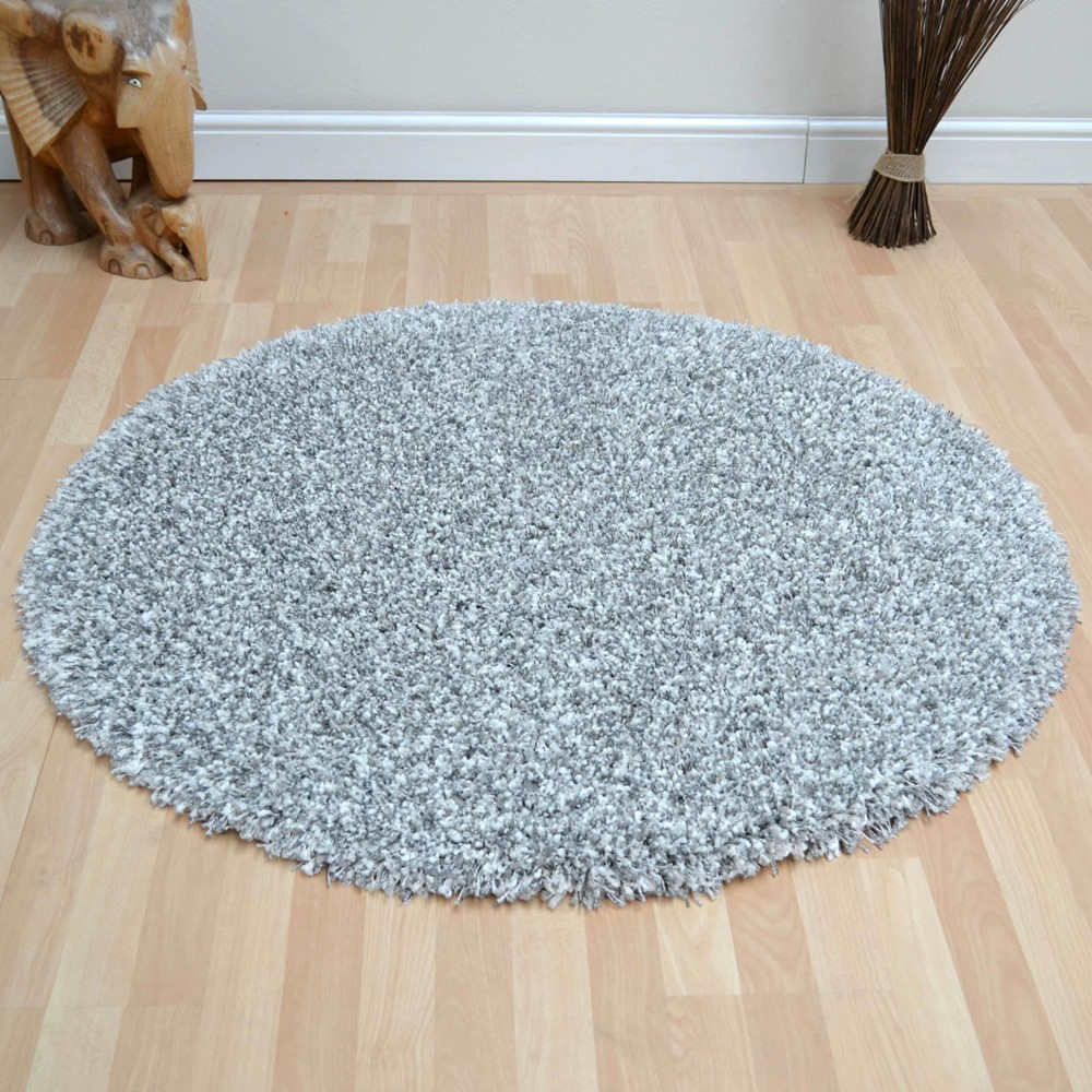 Twilight Circular Rugs 39001 6699 In Silver And White Buy