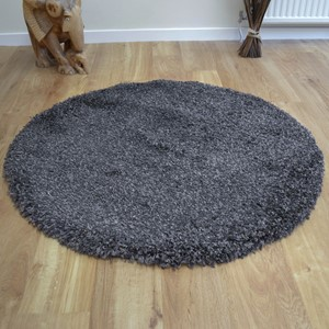 Twilight Circular Rugs 39001 7676 Mink Shaggy Free Uk