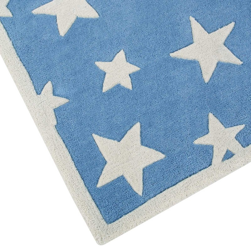 Twinkling Stars Rugs By Ana Amp Noush In Blue And White Buy
