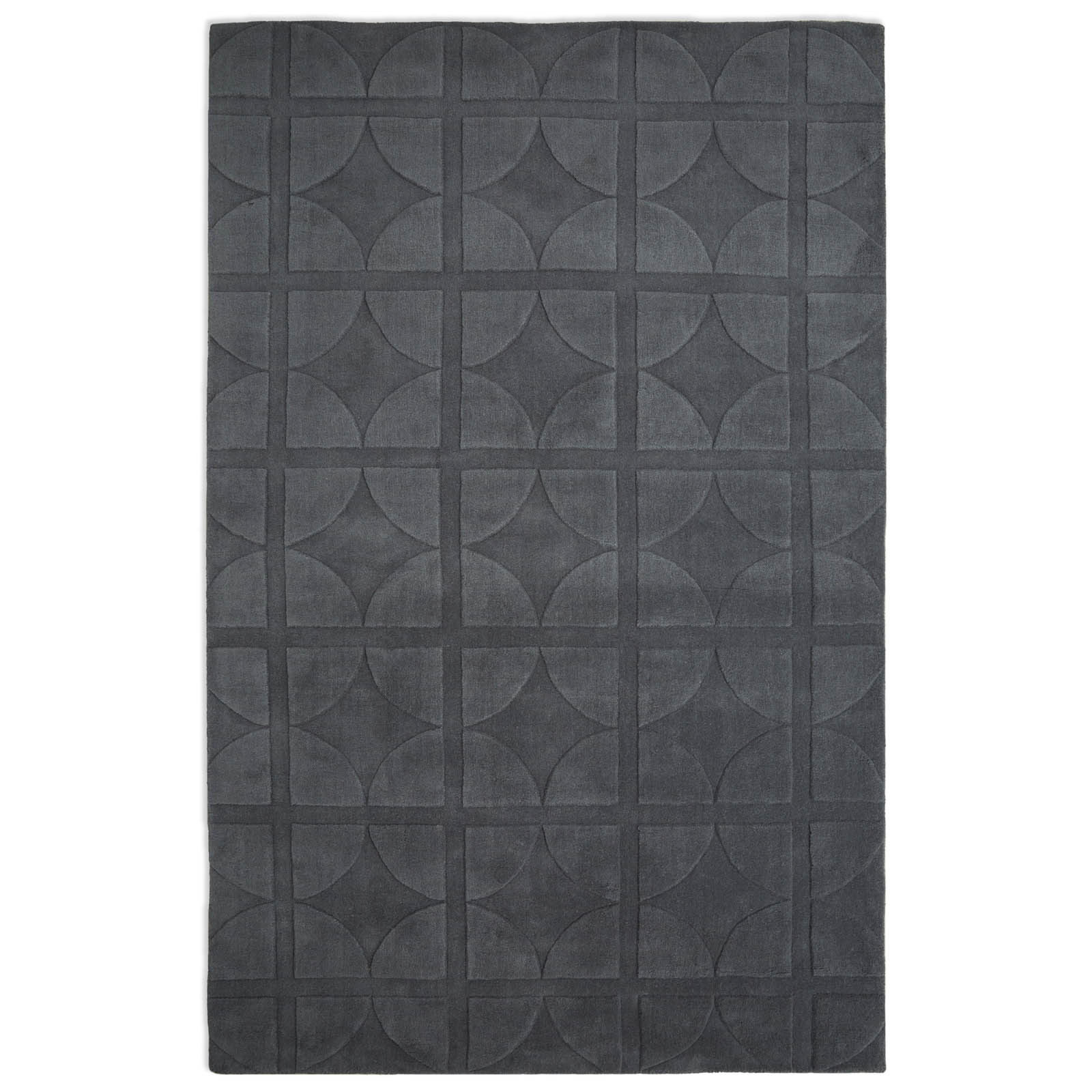 Universal Rugs UNI03 in Dark Grey