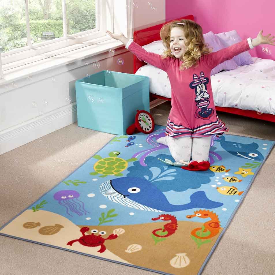 matrix kiddy under the sea rug free uk delivery the rug seller. Black Bedroom Furniture Sets. Home Design Ideas