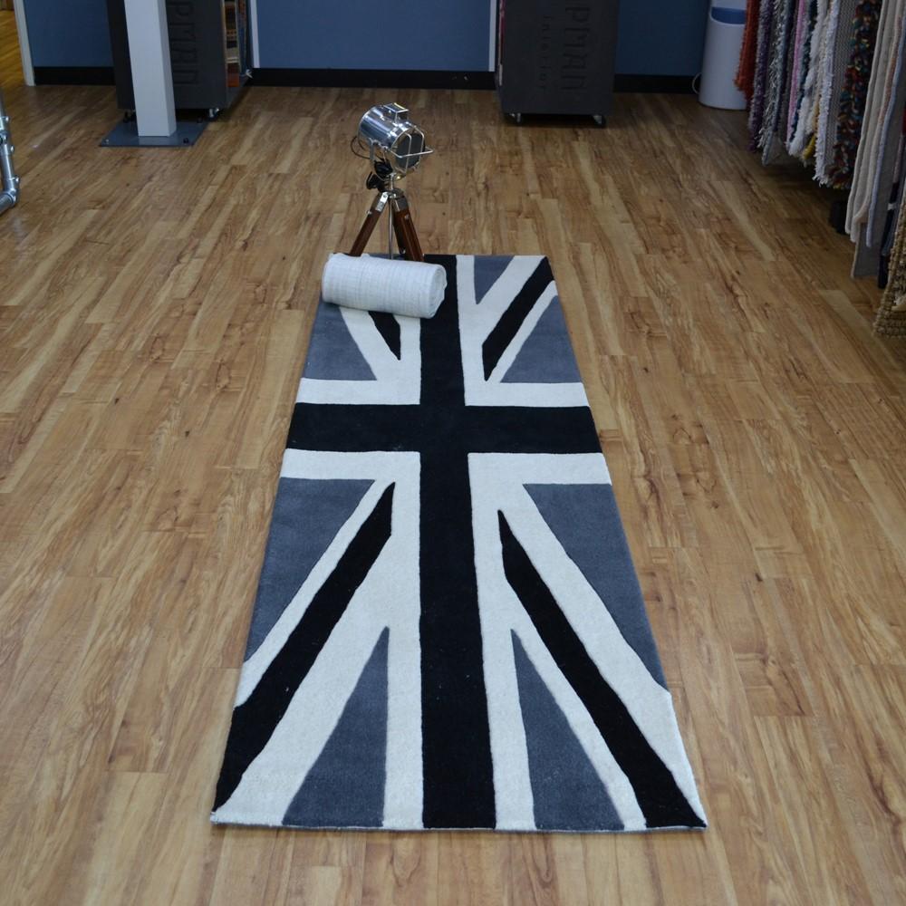Union Jack Vintage Wool Rugs in Brown buy online from the