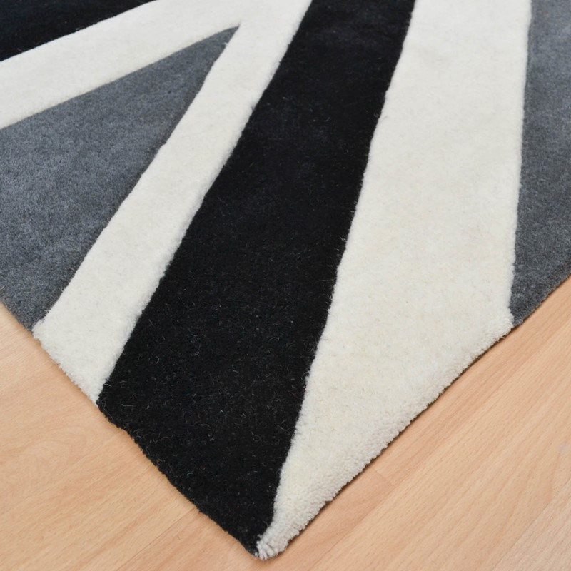 Buddy Washable Round Rugs in Black buy online from the rug