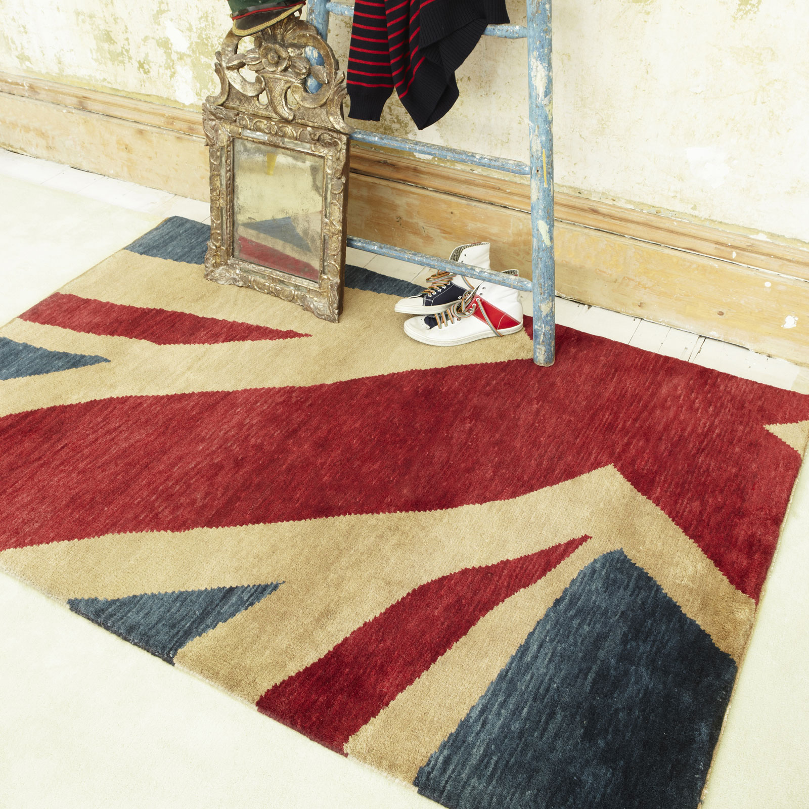 Union Jack Hand Knotted Wool Rugs
