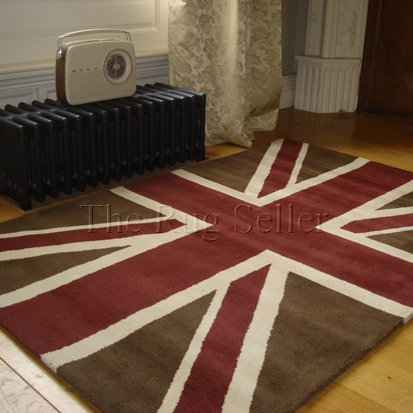 Union Jack Hand Knotted Wool Rugs buy online from the rug