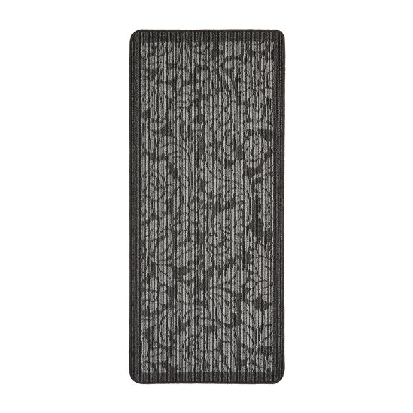Floral Utility Mat - Charcoal