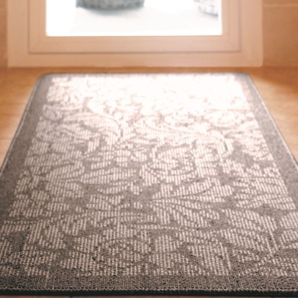 Floral Utility Mat - Silver