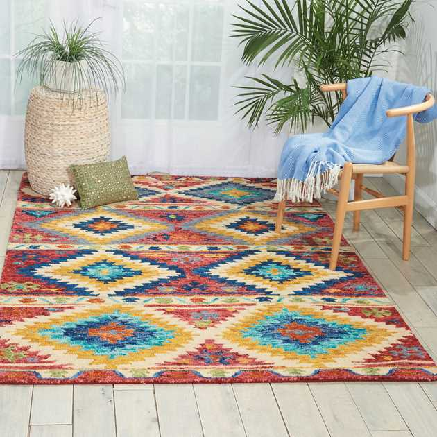 Vibrant Multi-coloured Rugs VIB02 by Nourison