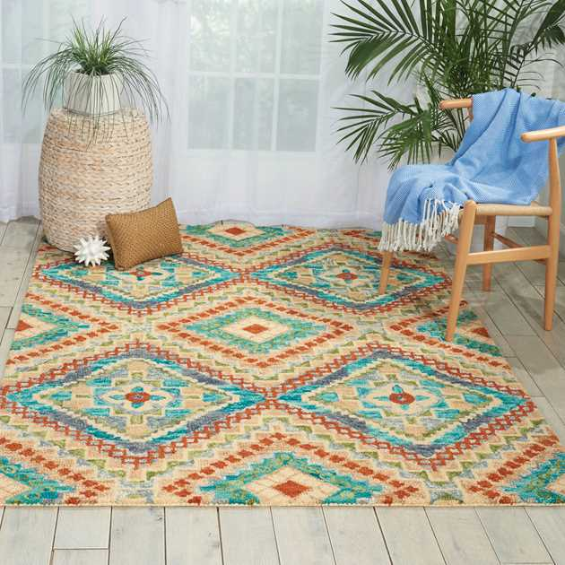 Vibrant Rugs in Ivory VIB06 by Nourison
