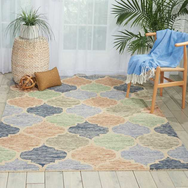 Vibrant Rugs in light multi-colours VIB07 by Nourison