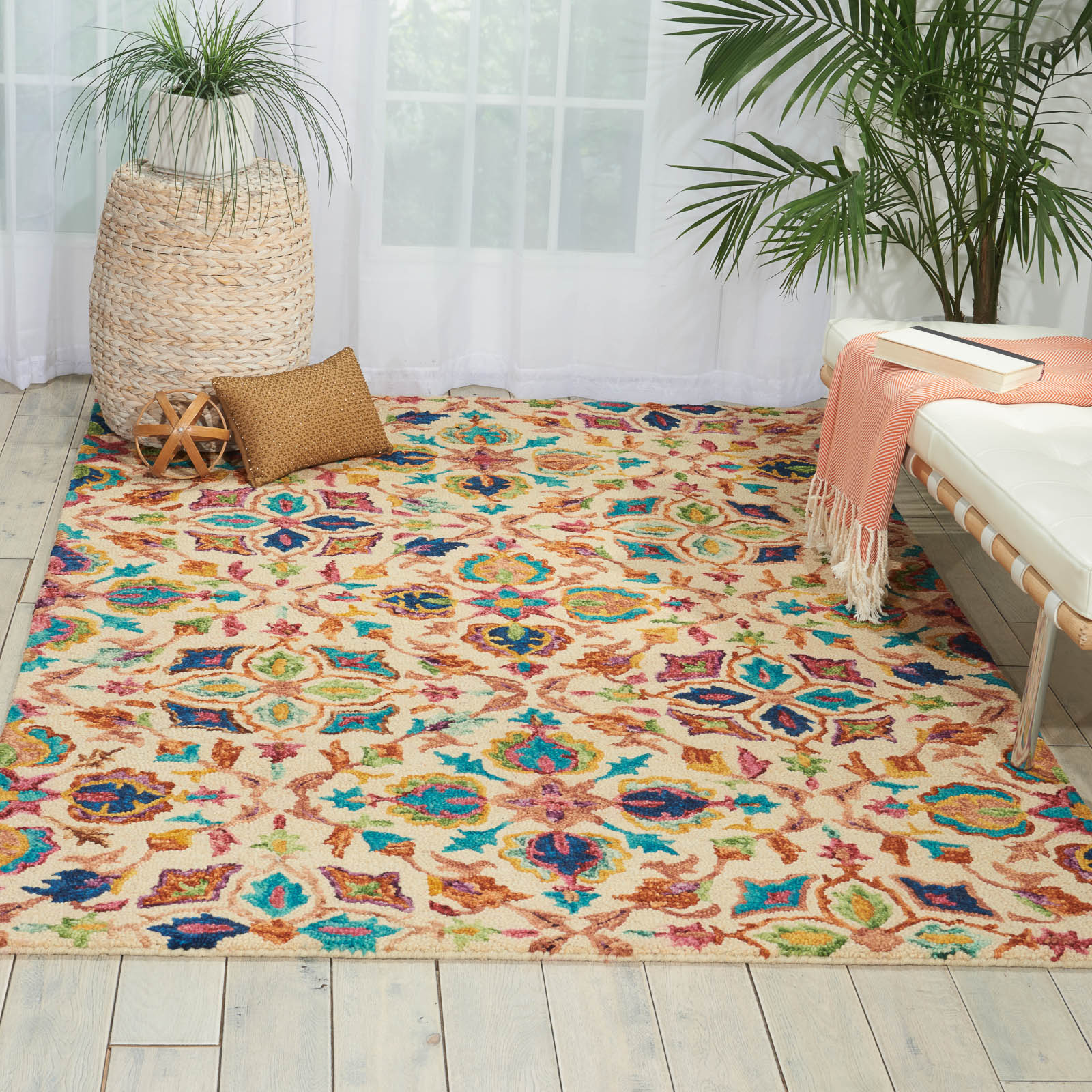 Vibrant Rugs VIB08 In Teal By Nourison Buy Online From The