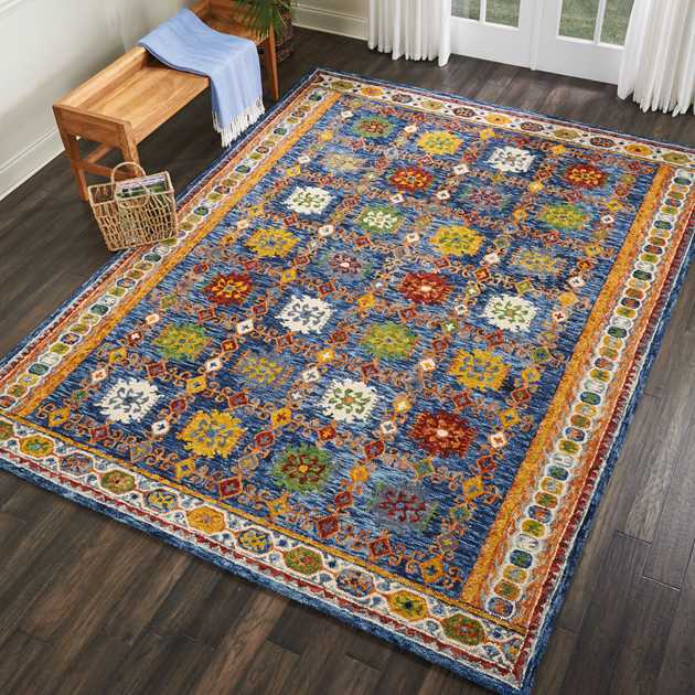 Vibrant Rugs VIB09 in Navy by Nourison