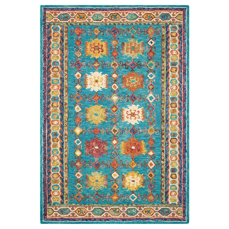 Vibrant Rugs VIB09 In Teal By Nourison Buy Online From The