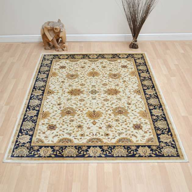 Vaishali Rugs in Cream and Blue