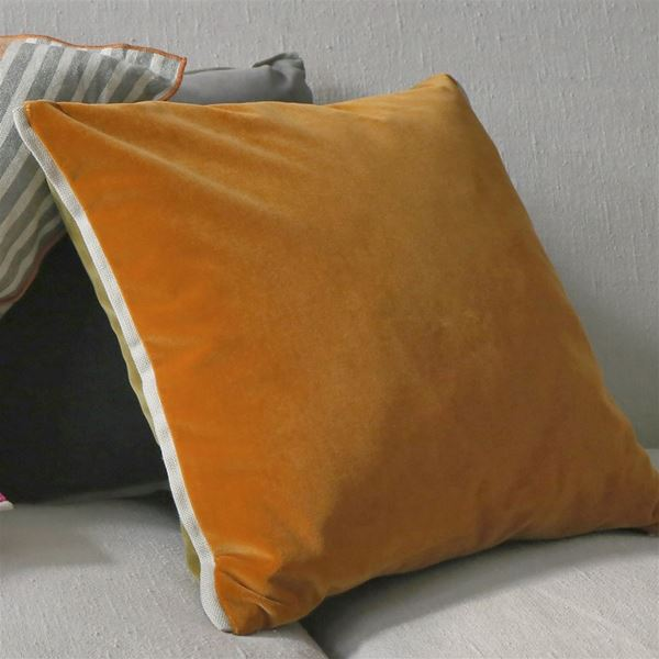 Varese Cushion - Saffron and Olive