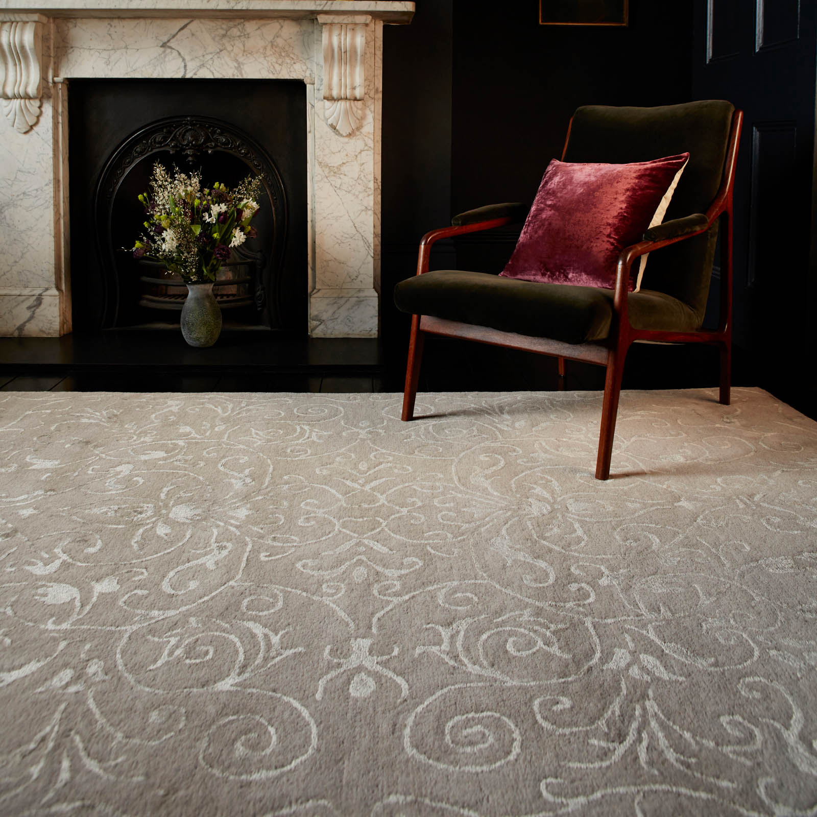 Victoria Rugs in Stone