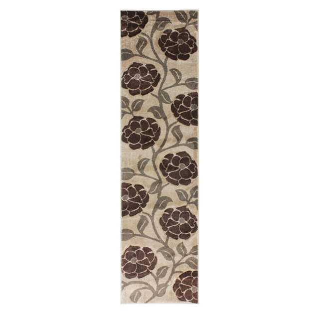 Hand Carved Vine Runners in Beige and Brown