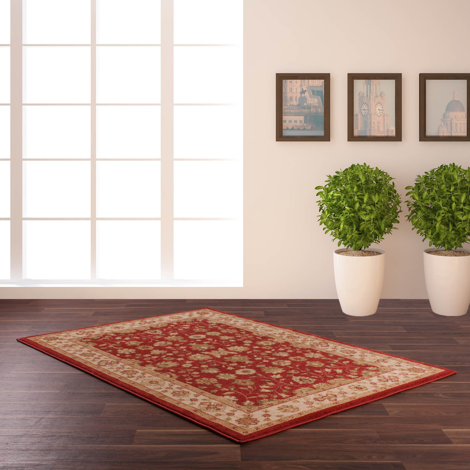 Vintage Traditional Rugs 790 in Red