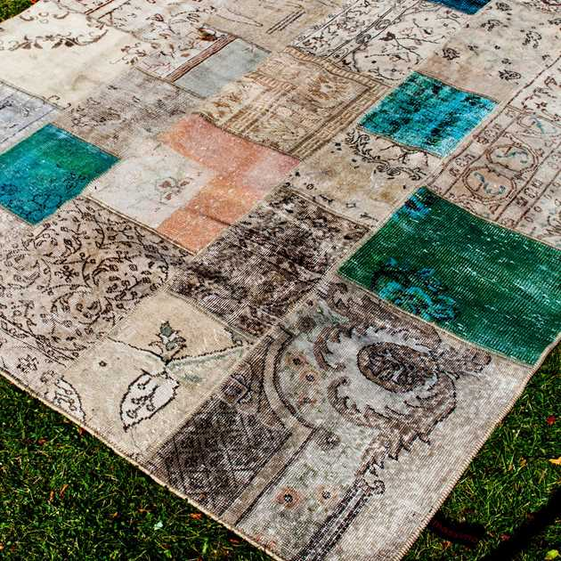 Vintage Rugs in Antique Multi by Massimo