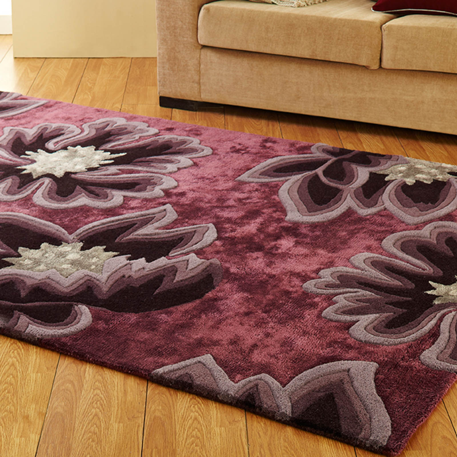 Unique Vintage Rugs in Aubergine