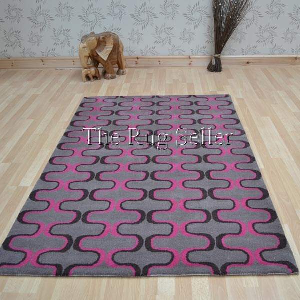 Virtue Wool Rugs In Brown And Pink Buy Online From The Rug