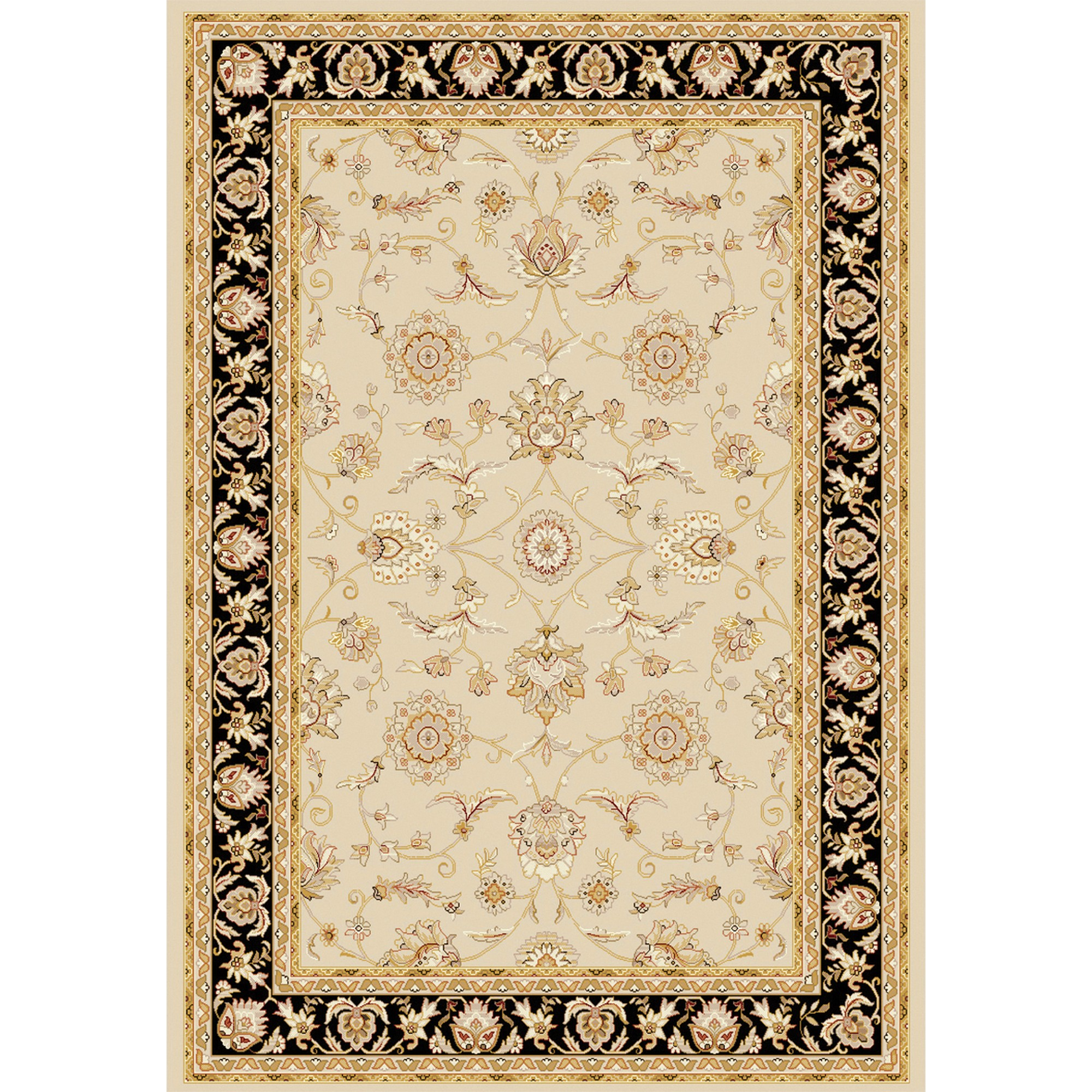 Viscount Rugs V53 65115 191 Cream Black