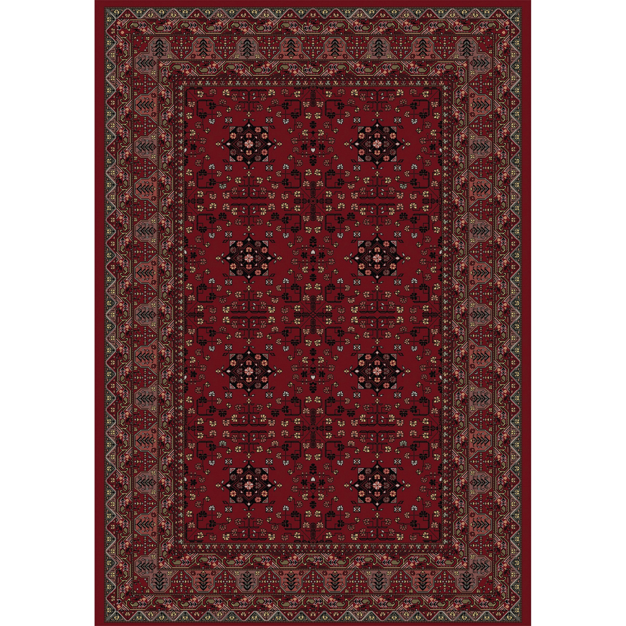Viscount Rugs V61 65103 390 Red