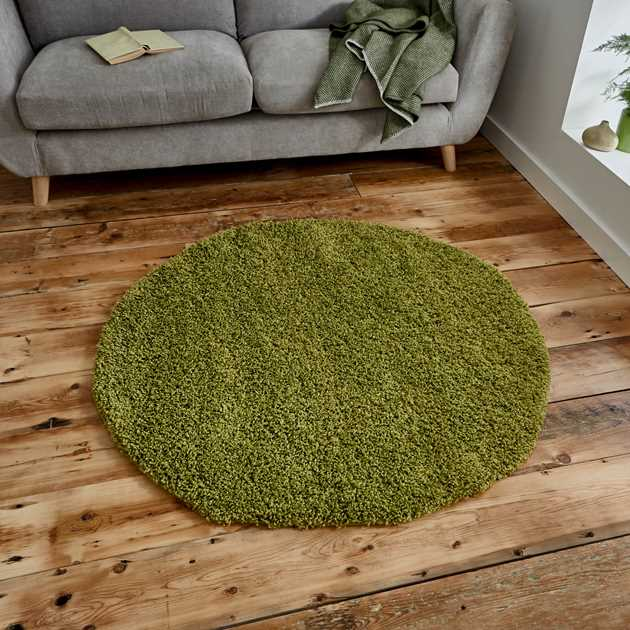 Vista Circular Shaggy Rugs 2236 Green
