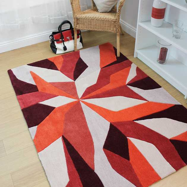 Vivid Rugs in Orange