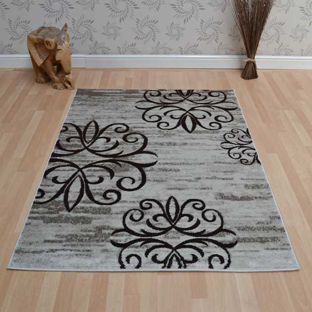 Vogue Medallion Rugs VG37 in Brown