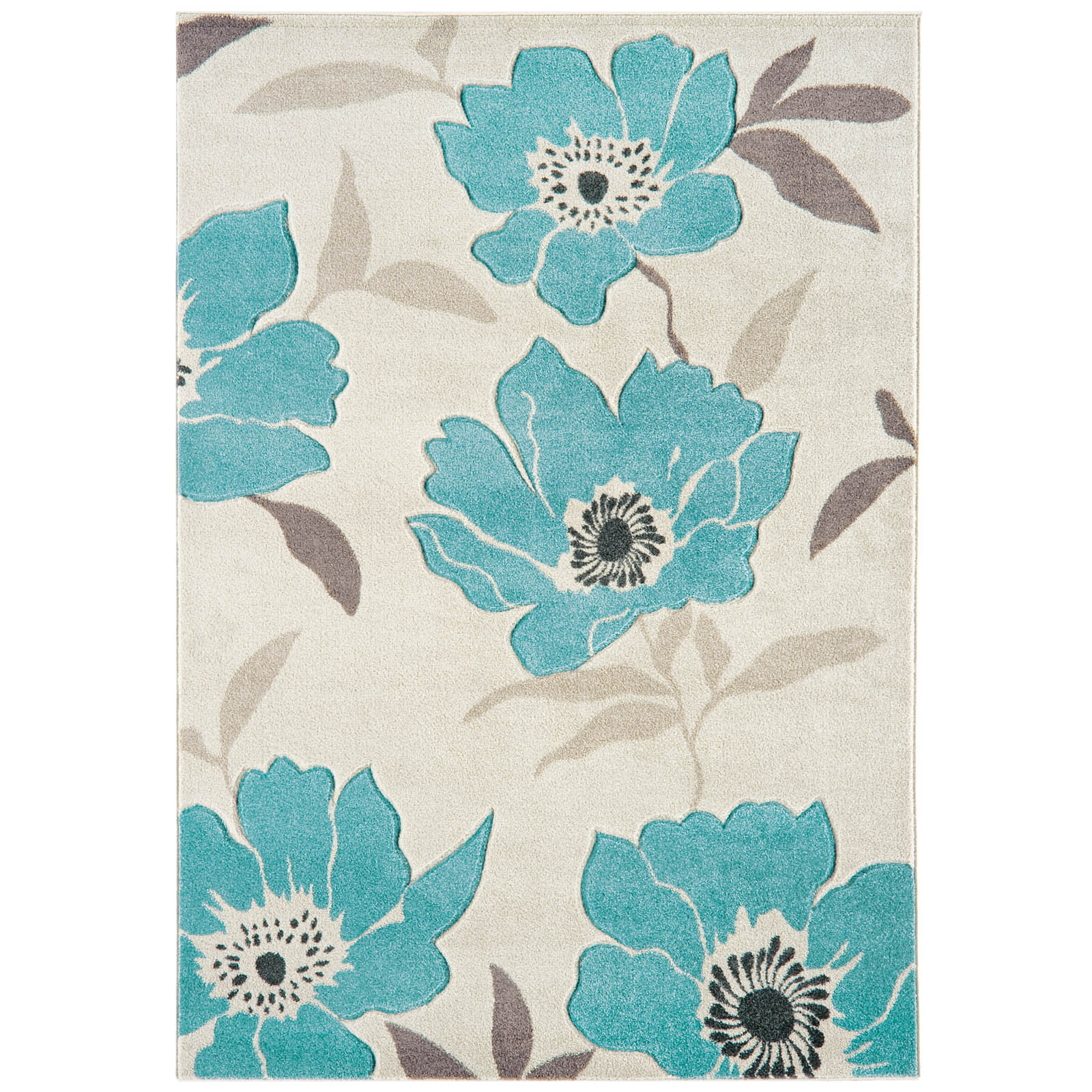 Vogue Poppies Rugs VG01 in Blue